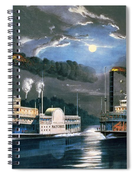 A Midnight Race On The Mississippi Spiral Notebook