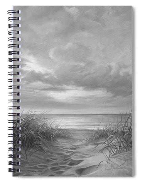 A Moment Of Tranquility - Black And White Spiral Notebook