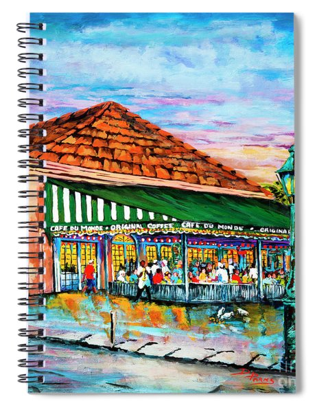 A Morning At Cafe Du Monde Spiral Notebook