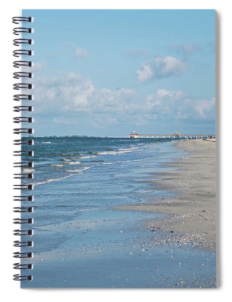 A Morning Walk On Fort Myers Beach Fort Myers Florida Spiral Notebook