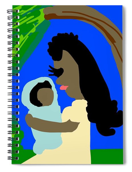A Mother Provides Universal Love Spiral Notebook