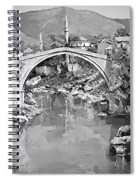 A Night In Old Town Mostar Spiral Notebook