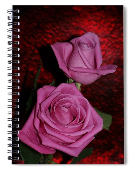A Pair Of Pink Roses Spiral Notebook