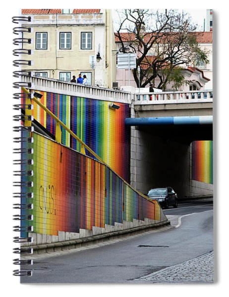 A Throughway Of Many Colors Spiral Notebook by Lorraine Devon Wilke