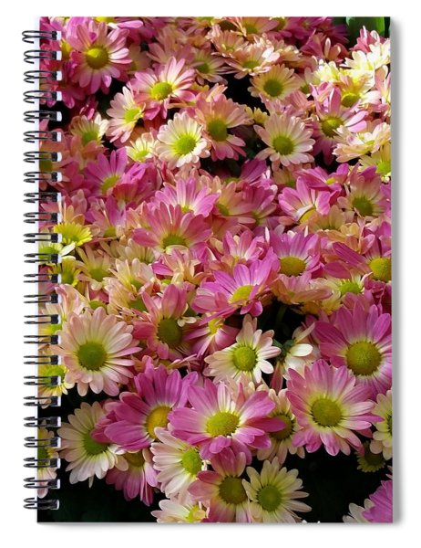 A Pastel Blanket Of Mums Spiral Notebook