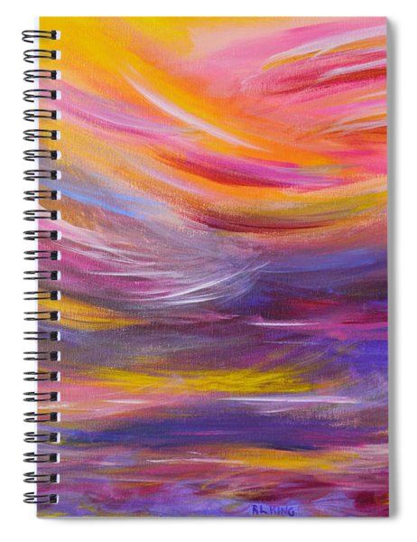 A Peaceful Heart - Abstract Painting Spiral Notebook