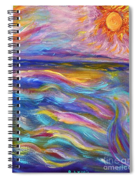 A Peaceful Mind - Abstract Painting Spiral Notebook