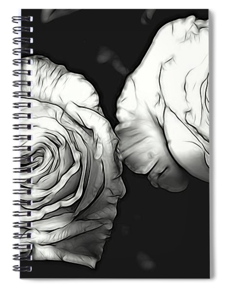 A Perfect Pair Bw Spiral Notebook