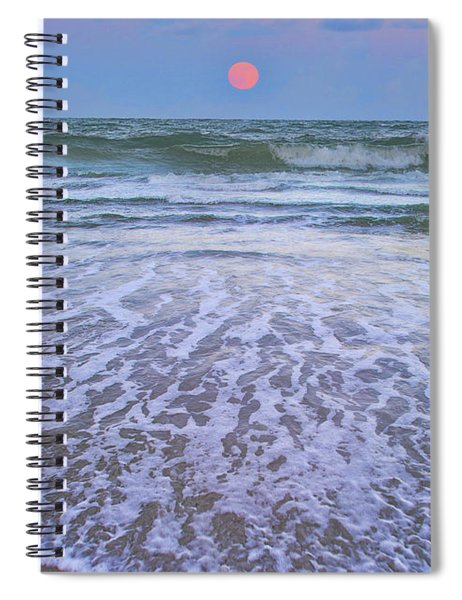 A Pink Moon Hdr Spiral Notebook