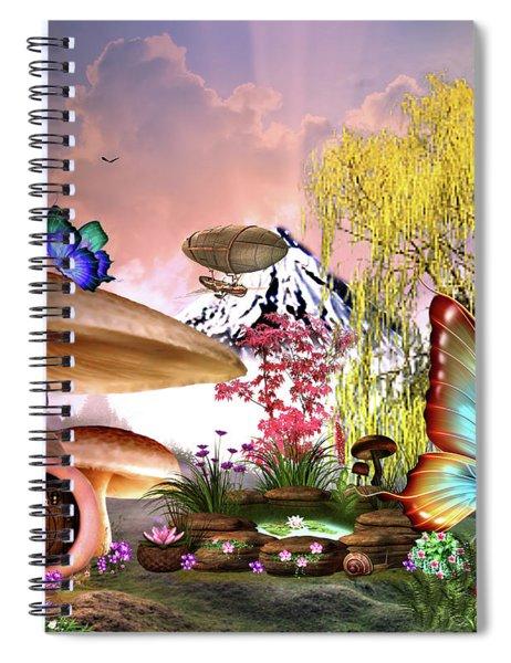 A Pixie Garden Spiral Notebook