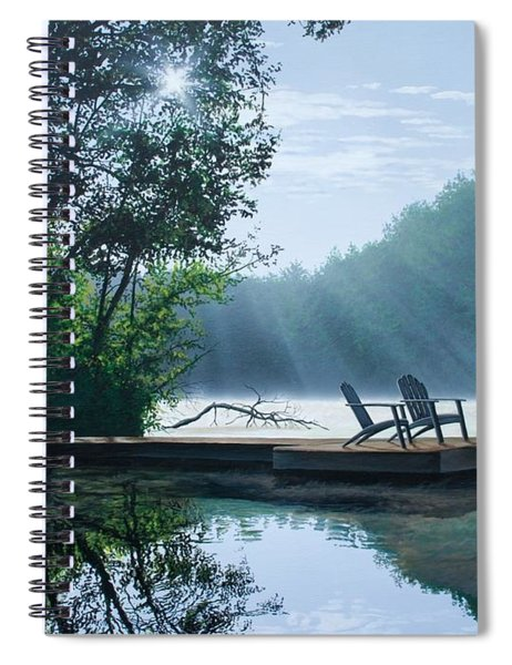 A Place To Ponder Spiral Notebook