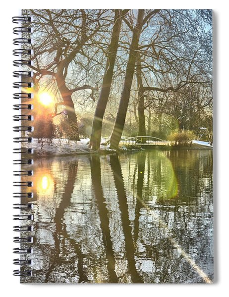 A Pond In Rotterdam Spiral Notebook
