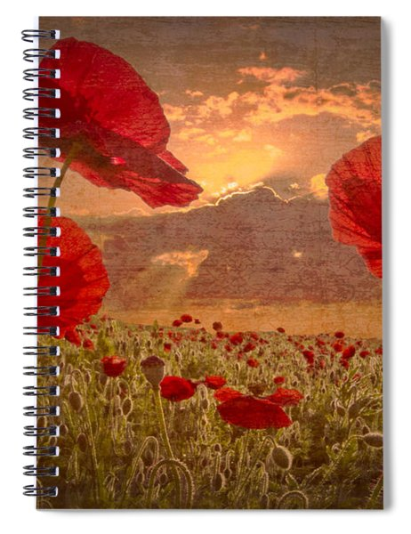A Poppy Kind Of Morning Spiral Notebook