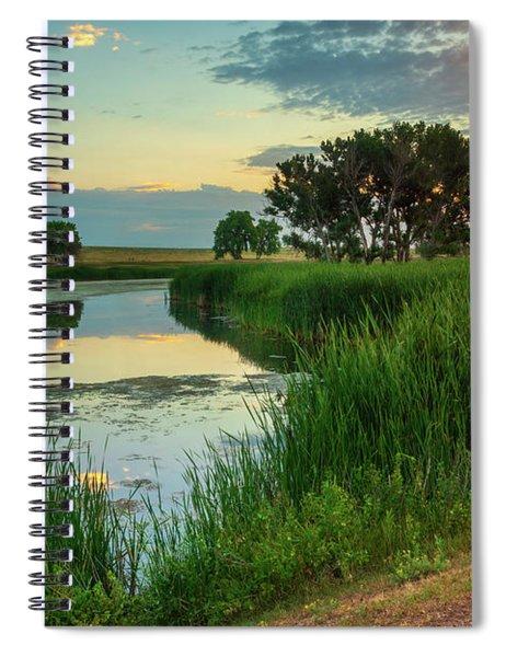 A Portrait Of Summer Spiral Notebook