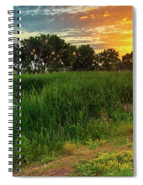 Spiral Notebook featuring the photograph A Portrait Of Summer by John De Bord
