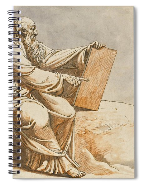 A Prophet Seated On A Rock Spiral Notebook
