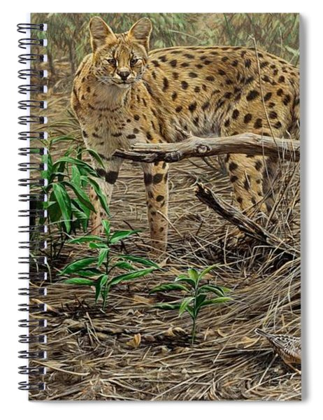 Spiral Notebook featuring the painting A Quiet Approach by Alan M Hunt