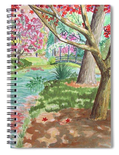 A Quiet Stroll In The Japanese Gardens Of Gibbs Gardens Spiral Notebook