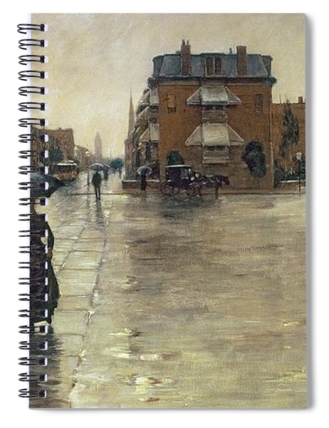A Rainy Day In Boston Spiral Notebook