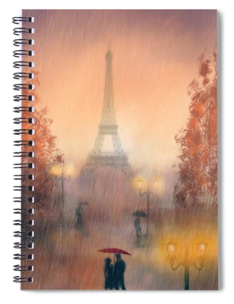 A Rainy Evening In Paris Spiral Notebook