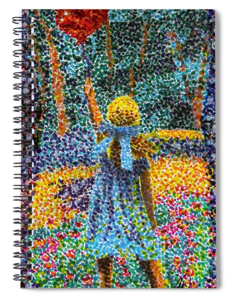A Red Balloon Spiral Notebook