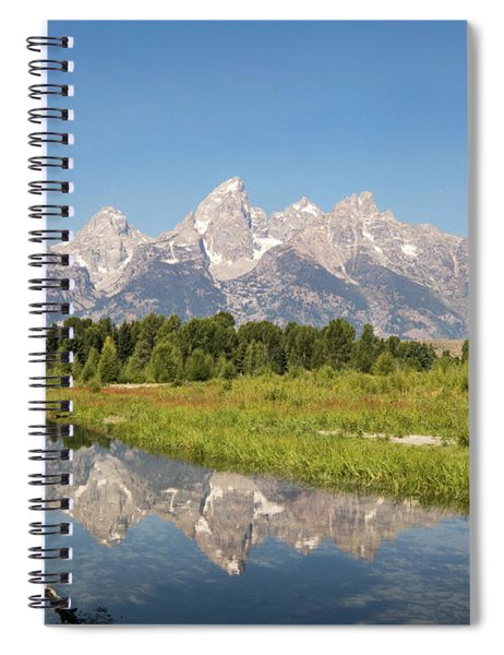A Reflection Of The Tetons Spiral Notebook
