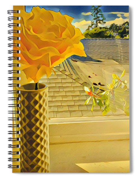 A Rose Is A Rose Electric Spiral Notebook