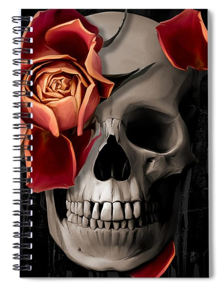 A Rose On The Skull Spiral Notebook