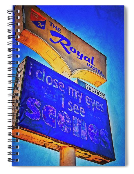 A Royal Scene, Route 66 Sign Spiral Notebook