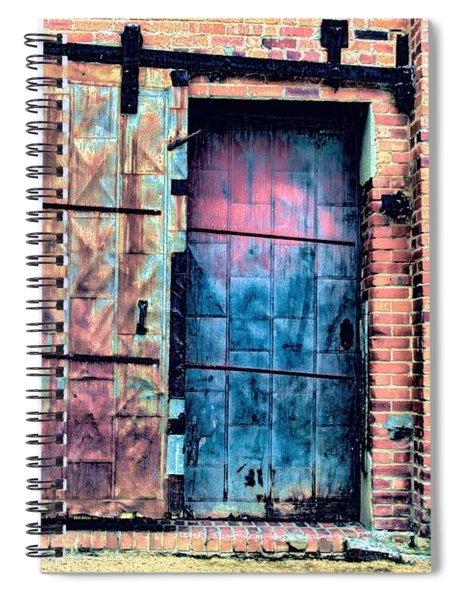 A Rusty Loading Dock Door Spiral Notebook