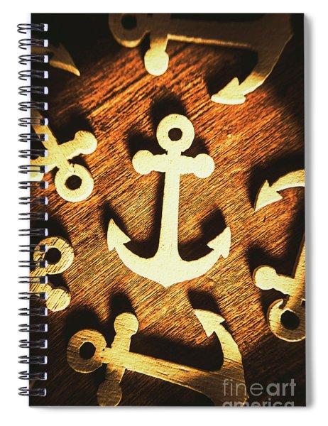 A Sailors Badge Spiral Notebook