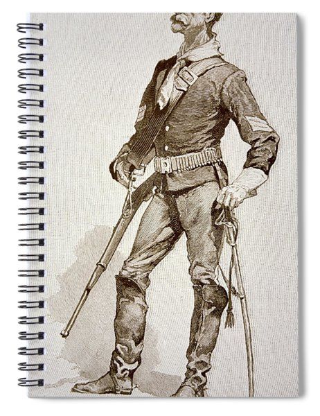 A Sergeant Of The Us Cavalry Spiral Notebook