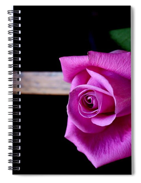 A Single Rose Spiral Notebook