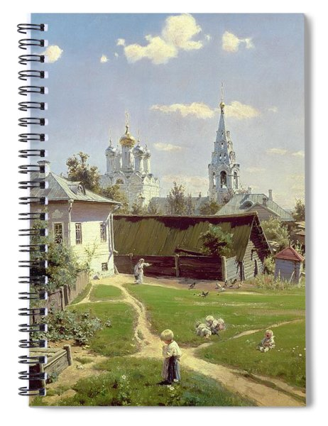 A Small Yard In Moscow Spiral Notebook