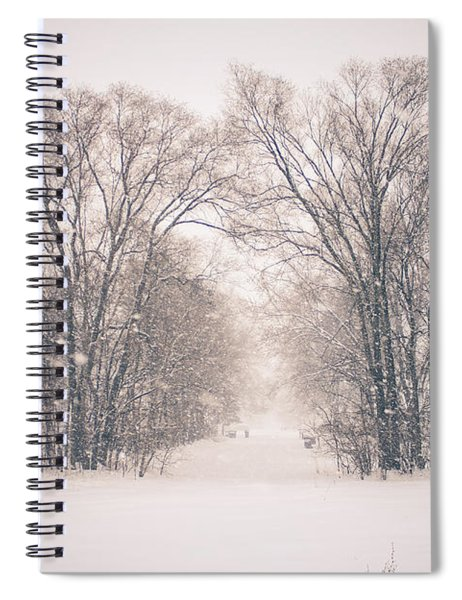 A Snowy Monday Spiral Notebook