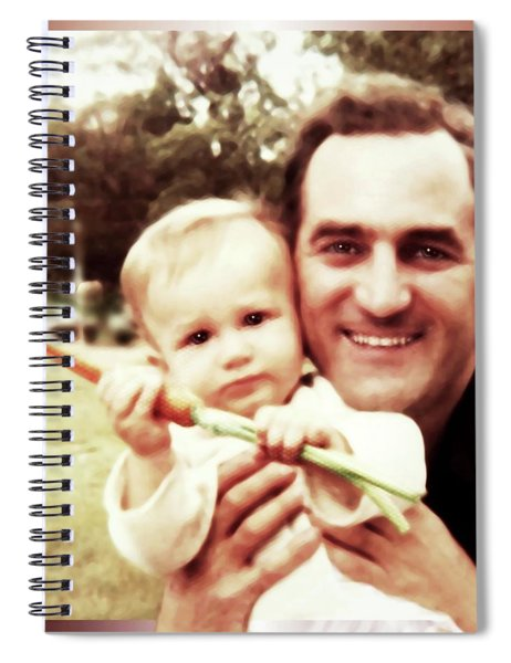 A Son, A Father And A Juicy Carrot Spiral Notebook