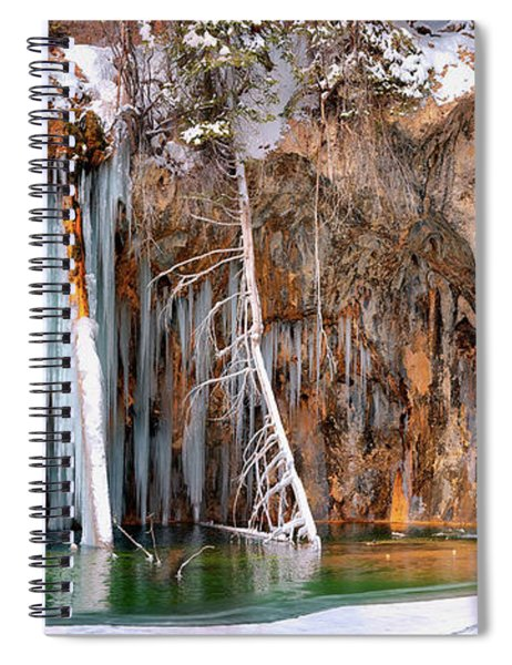 A Spring That Knows No Summer. - Hanging Lake Print Spiral Notebook