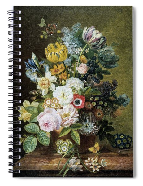 A Still Life With Flowers 2 Spiral Notebook