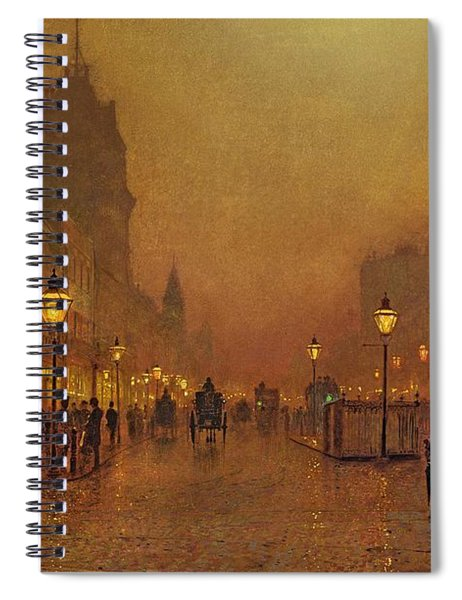 A Street At Night Spiral Notebook