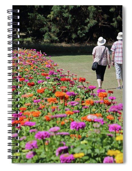 A Stroll In The Garden Spiral Notebook