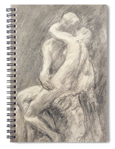 A Study Of Rodin's Kiss In His Studio Spiral Notebook