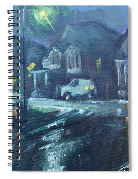 A Summer Rainy Night Spiral Notebook