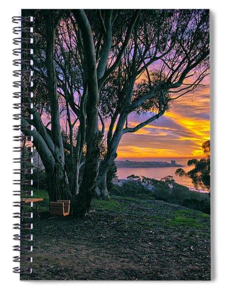 A Swinging Sunset From The Secret Swings Of La Jolla Spiral Notebook