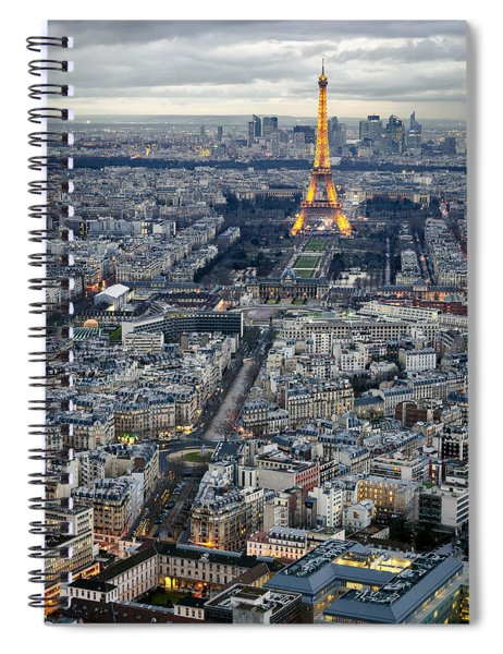 A Tower As Seen From A Different Tower. Spiral Notebook