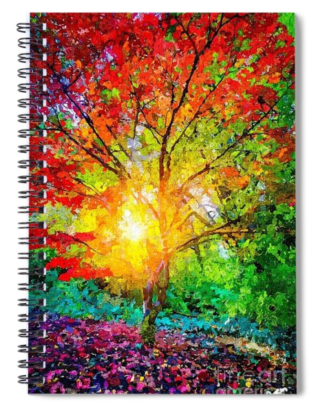 A Tree In Glory Spiral Notebook
