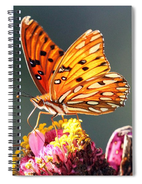 A Troubled Zinnia Spiral Notebook