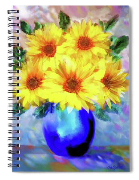 A Vase Of Sunflowers Spiral Notebook