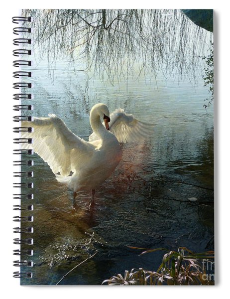 A Very Fine Swan Indeed Spiral Notebook