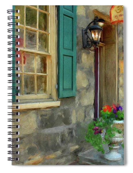 A Victorian Tea Room Spiral Notebook