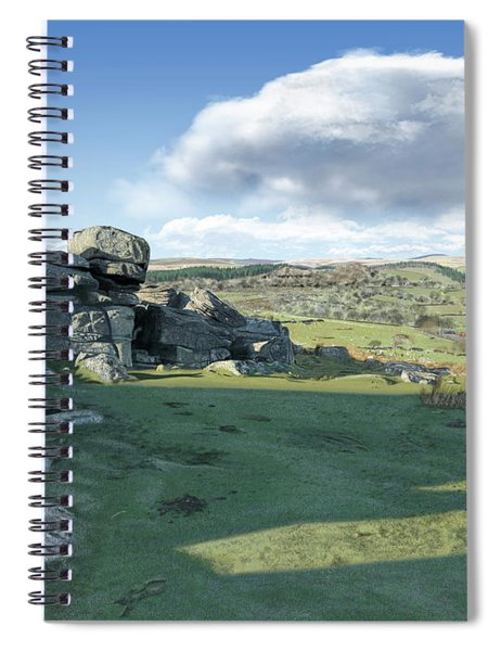A View From Combestone Tor Spiral Notebook